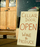 cellar door sign